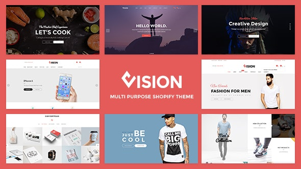 Vision - Clean DRAG and DROP Fashion, Digital Shopify Theme - Shopify eCommerce