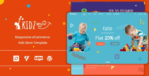 Kidzoo - Kids and Baby Store WordPress eCommerce Theme - Children Retail