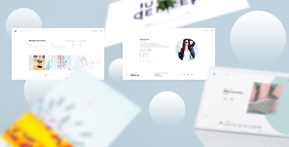 Minimal - Portfolio PSD Template - Portfolio Creative
