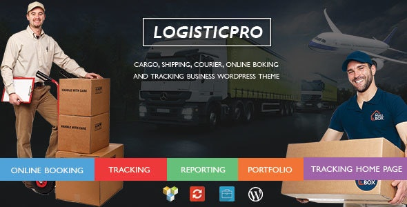 Logistic Pro - Transport - Cargo - Online Tracking - Booking - Portfolio WordPress Theme - Business Corporate