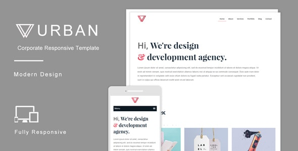 Urban - Multipurpose Responsive HTML Template - Corporate Site Templates