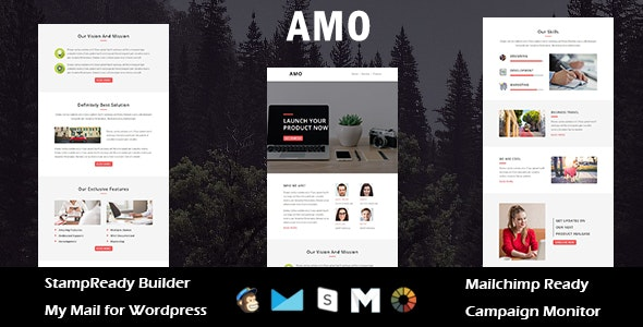 AMO - Multipurpose Responsive Email Template with Stamp Ready Builder Access - Email Templates Marketing