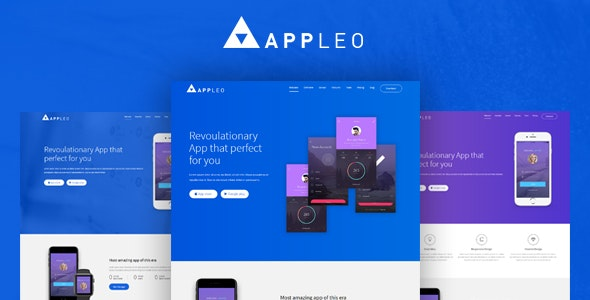 Appleo App Landing Page HTML Template - Site Templates