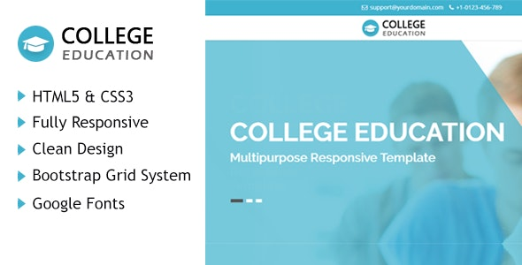 College Education HTML Responsive Template - Corporate Site Templates