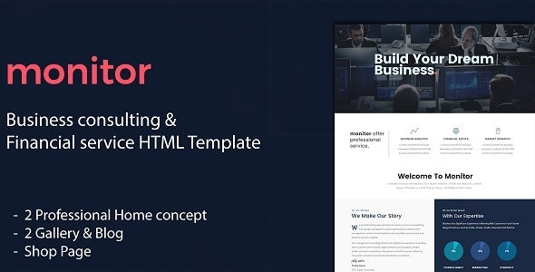 Monitor - Business Consulting and Financial Services HTML Template - Business Corporate