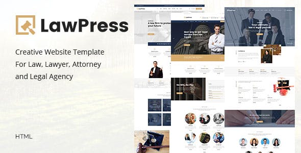 LawPress Html - Creative Website Template For Law, Lawyer, Attorney and Legal Agency