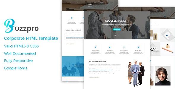 Corporate HTML Template - Buzzpro - Business Corporate