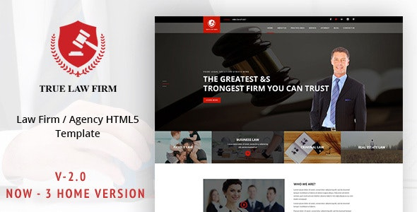 True LAW - Lawyer & Attorney Template - Corporate Site Templates