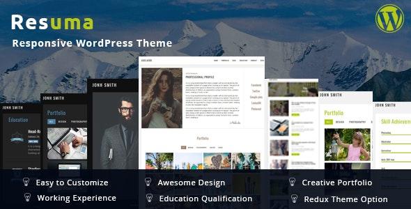 Resuma  - Portfolio Responsive WordPress Theme - Creative WordPress