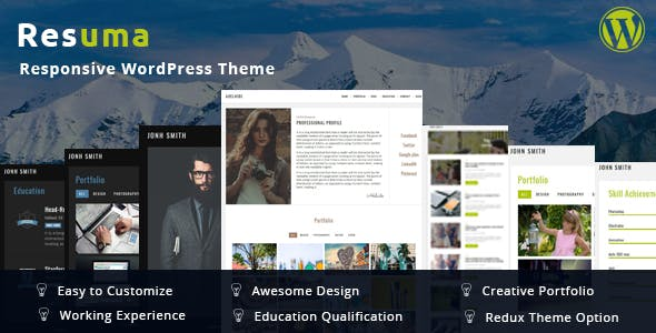 Resuma  - Portfolio Responsive WordPress Theme