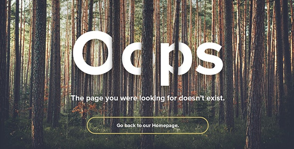 Natural Forest - Responsive 404 Error Template - 404 Pages Specialty Pages