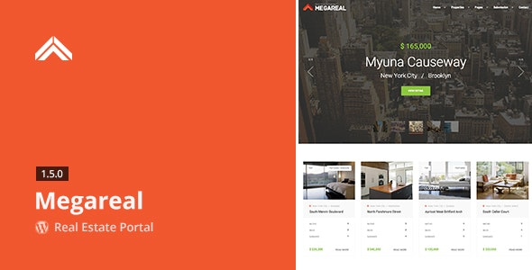 Megareal - Real Estate Portal WordPress Theme - Real Estate WordPress