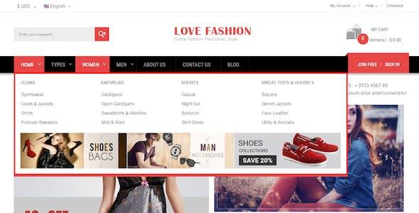 Love Fashion - Multipurpose Responsive PrestaShop Theme
