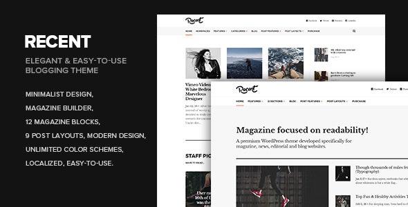 Recent - Magazine WordPress theme focused on readability - Personal Blog / Magazine