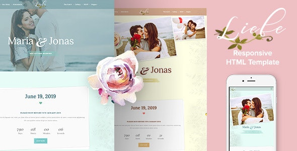 Liebe - Responsive HTML Wedding Template - Wedding Site Templates