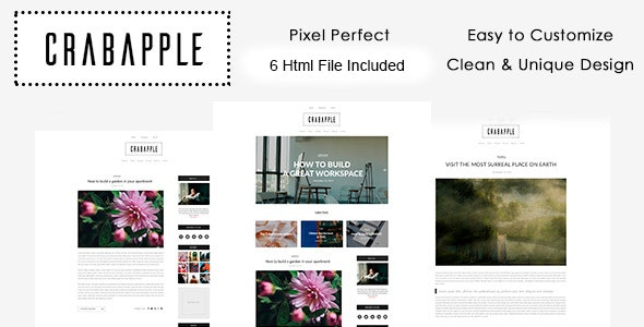 Crabapple HTML - Creative Site Templates