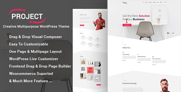 Project - Creative Multipurpose WordPress Theme - Creative WordPress