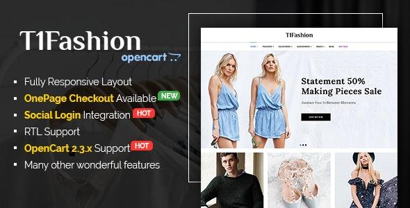 T1Fashion - Responsive Fashion OpenCart 2.3 Theme - Shopping OpenCart