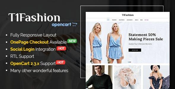 T1Fashion - Responsive Fashion OpenCart 2.3 Theme