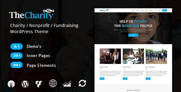 The Charity - Nonprofit & Fundraising WordPress Theme - Charity Nonprofit