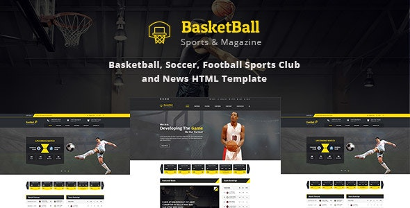 SportsMagazine Basketball, Soccer, Football Club and News HTML Template - Nonprofit Site Templates