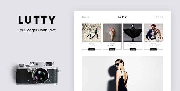 Lutty - Personal Blog PSD Template - Personal Photoshop