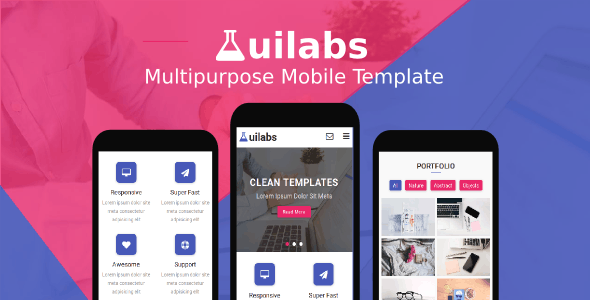 Uilabs - Multipurpose Mobile Template - Mobile Site Templates