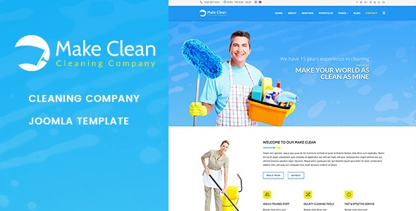 Make Clean | Cleaning Company Joomla Template - Business Corporate