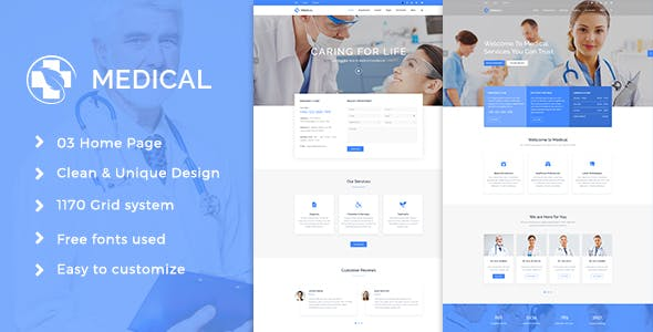 Medical Health Psd Template