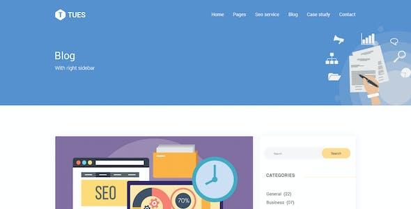 Tues - SEO & Digital  Marketing PSD Template