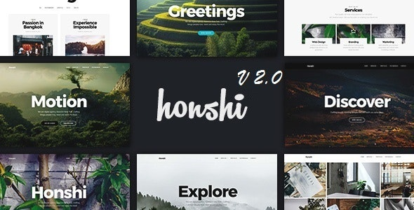 Honshi - One Page Multi Purpose Joomla! Template - Corporate Joomla