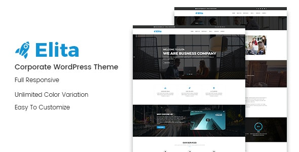 Elita – Corporate WordPress Theme - Business Corporate