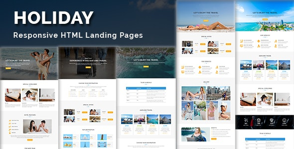 HOLIDAY - Multipurpose Responsive HTML Landing Page - Landing Pages Marketing
