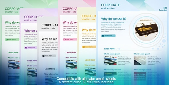 CORPORATE EMAIL TEMPLATE - Newsletters Email Templates