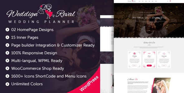 Wedding Reval - Wedding Planner & Agency WordPress Theme - Wedding WordPress