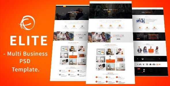 ELITE-Multipurpose Business PSD Template. - Business Corporate