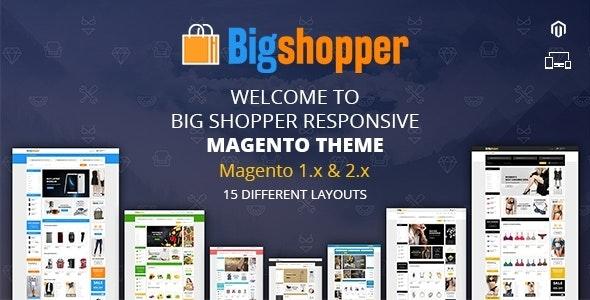BigShopper - Multipurpose Magento 1 & 2 Theme - Shopping Magento