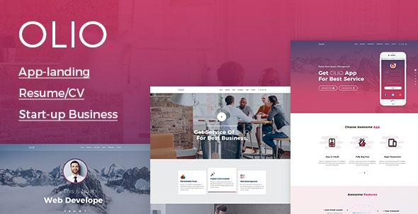 Olio - One Page Multipurpose Template - Landing Pages Marketing