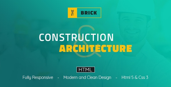 The Brick Architechture & Construction - HTML Template - Business Corporate