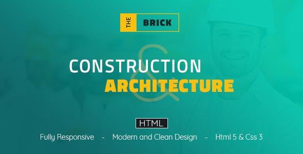 The Brick Architechture & Construction - HTML Template