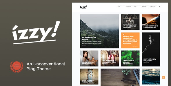 Izzy - An Unconventional Blog Theme - Personal Blog / Magazine