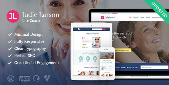 Life Coach and Psychologist Personal WordPress Theme - Health & Beauty Retail