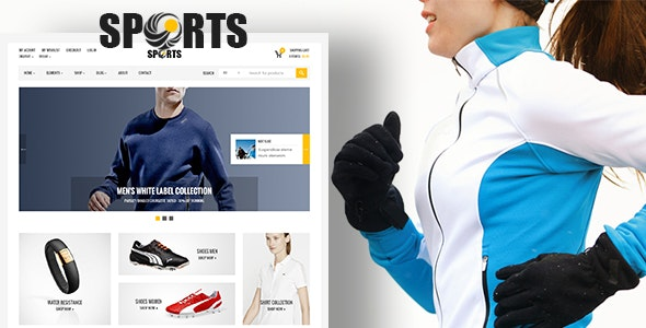 Sport Store   Psd Template - Food Retail