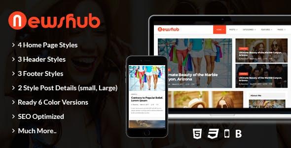Newshub - Blog & Magazine HTML Template
