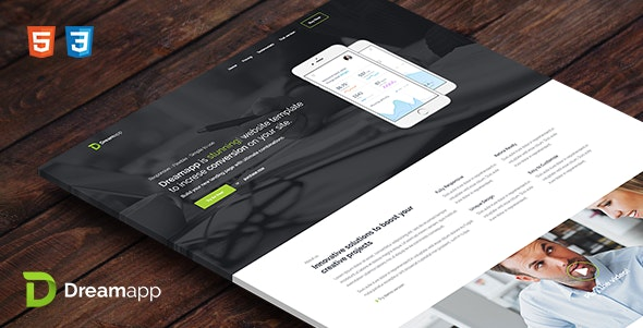 Dreamapp - HTML Template - Landing Pages Marketing