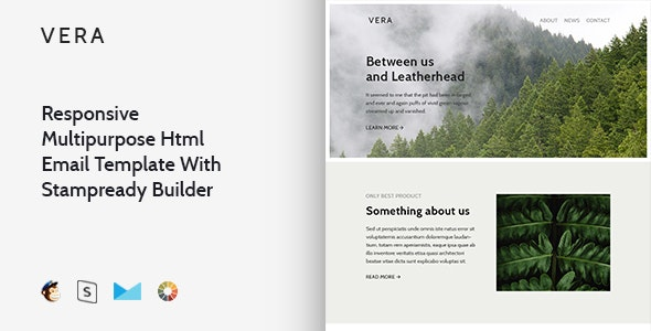 Vera - Responsive Email + StampReady, MailChimp & CampaignMonitor compatible files - Email Templates Marketing