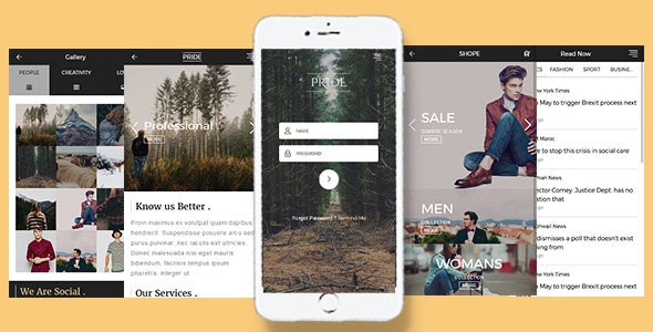 Pride - Multipurpose Mobile Template - Mobile Site Templates