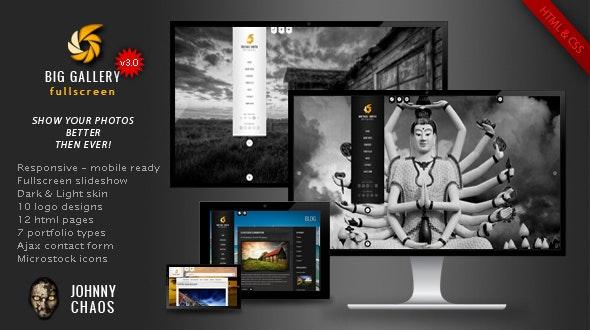 BIG Gallery - Fullscreen Photography Portfolio - Photography Creative