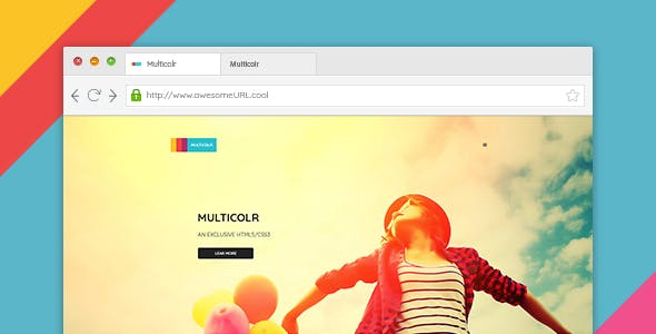 MultiColr - Clean & Minimal One Page PSD Template For Agency