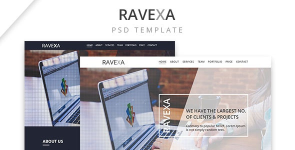 Ravexa | Business Landing Page - Business Corporate